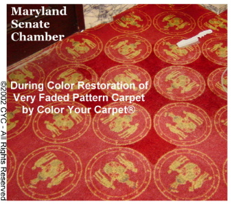 Carpet Dyeing MD Senate Chamber-Before