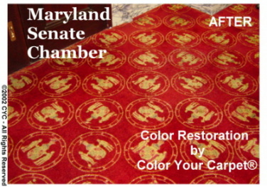 Carpet Dyeing-MD Senate Chamber - After
