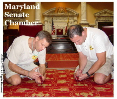 Carpet Dyeing in Progress- MD Senate Chamber